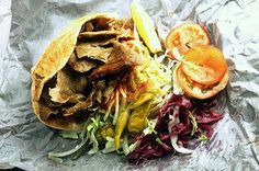 Donner Kebab- I know not the healthiest thing but I had a great Kebab shop where I lived in the UK and I miss them. Gyros here are kinda the same thing. Donner Kebab, Food Styling, How To Look Pretty, Nom Nom, Deserts, Mexican, George Bernard, Bernard Shaw, Tasty
