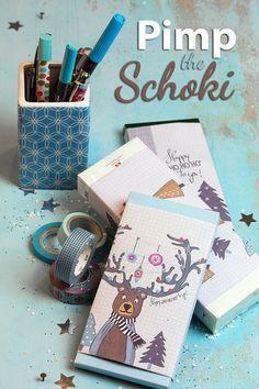 Weihnachtliche Schokoladenverpackung: Tutorials / Freebies / Freebooks ~ Lila-Lotta