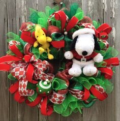 Snoopy Christmas Charlie Brown Christmas Christmas by BaBamWreaths