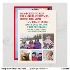 Funny 2020 Skip Christmas Letter Family Photos Holiday Card #ChristmasCards #cards #christmas #funny #christmas2020 #familyphotos #photocards #holidays Holiday Photo Cards, Holiday Photos, Christmas Photos, Family Christmas, Funny Christmas Cards, Christmas Humor, Holiday Puns, Picture Layouts, Cute Family