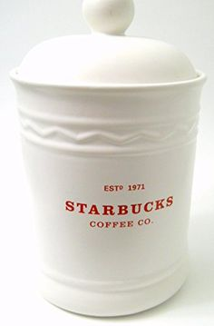 Starbucks Cookie Canister Large White Lidded Est 1971 Red Logo Rubber Gasket Starbucks http://www.amazon.com/dp/B018BMPWC4/ref=cm_sw_r_pi_dp_26UCwb062K4Y9