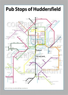 Fancy a pint? We really like this tube style pic of Hudds pubs :) Stuff To Do, Things To Do, Style Pic, West Yorkshire, Fashion Pictures, Embroidery Patterns, Tube, Places To Visit, England