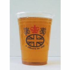 Pack of 25 Great Britain Union Jack Plastic Pint Glasses