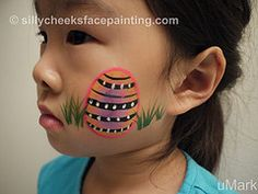Easter face painting #snazaroo #facepaint #easter