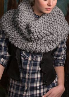 Rendezvous Knit Cowl   Find this knit cowl pattern from redheart.com
