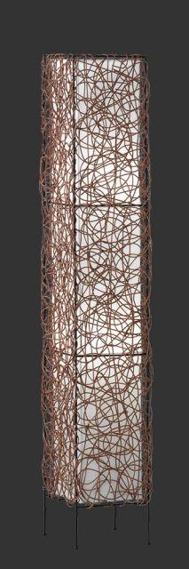 4056021-00 Trio - stojanové svietidlo - ratan + biely textil