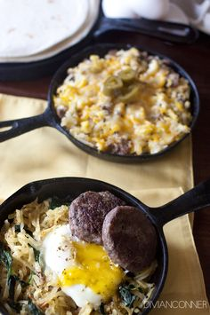Easy Breakfast Scrambles. Recipe by @DivianConner