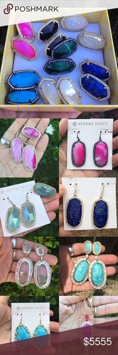 UFT Luxe I am DISO the ellens in the last picture! Iridescent drusy set in gunmetal! If you have a pair and are interested in trading please let me know! Kendra Scott Jewelry
