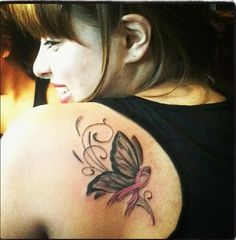 My beautiful tattoo. A symbol for the strength of those who have fought against breast cancer ♥