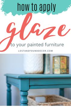 I've got a fun makeover and video tutorial to share with you today, all about how to apply glaze to painted furniture! CLEAR Glaze is a handy tool, so you can mix and apply your own custom-color glaze to any of your furniture painting projects. 🙂 Here's the side tables I used for this demo–nice and sturdy, just dated and needing a little pizazz to bring them back to life! Diy Furniture Projects, Furniture Makeover, Furniture Refinishing, Painting Furniture, Repurposed Furniture, Painting Tutorials, Painting Tips, Bright Painted Furniture, Glaze Paint