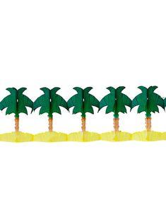 Guirlande papier palmier 4 m : Cette guirlande de palmiers mesure environ 4 mètres de long et 17 cm de haut.Elle est en papier et représente plusieurs palmiers.Vous pourrez la suspendre à... Palmiers, Animation, Decoration, Logos, Interior, Summer, Tropical Party, Garden Parties, Garlands