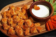 Cauliflower Buffalo [Chicken] Bites | The Saucy Southerner A vegetarian version of the ever-favorite Buffalo Chicken bite.