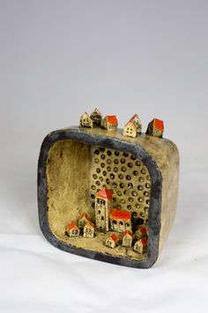 Tiny houses ***M.map ideas about all different kinds of shadowboxes/materials, etc. to make