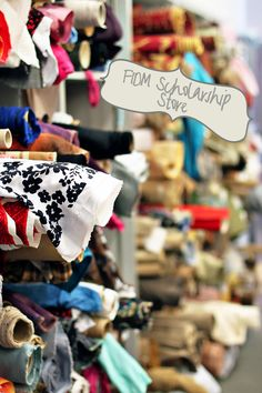 FIDM Scholarship Store....everything is $1 a yard. (Upholstery fabrics are $2 a yard)