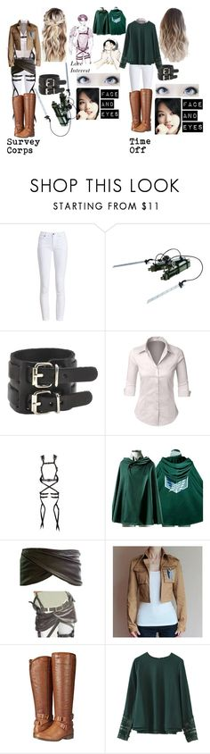 """Attack On Titan OC"" by lord-nightshade on Polyvore featuring Barbour, LE3NO and Madden Girl"
