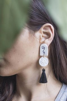 Kara Statement tassel earring Lightweight metal by Malaforma