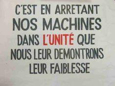 Affiche mai 68 - C'est en arrêtant nos machines