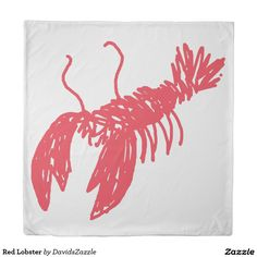 Red Lobster Duvet Cover  Also available in twin and king!  Search the name of this product in the search bar on my Zazzle product page to find all products with this design!  #lobster #illustration #design #red #line #sketch #drawing #sketchy #ocean #sea #life #creature #claw #crawl #nature #planet #earth #chic #modern #contemporary #buy #sale #zazzle #cool #sweet #neat #swim #swimming #under #the #fish #fishing #food #foodie #eat #delicious #sleep #pillow #case #bedroom #bedding