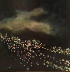 "Bryan Boomershine ""LA Lights"" Oil Painting  on Chairish.com"