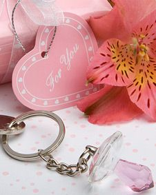 Choice Crystal  Collection pacifier key chains. http://www.bluerainbowdesign.com/WeddingFavorProduct.aspx?ProductID=PR05261217499900123456789XBRD10161