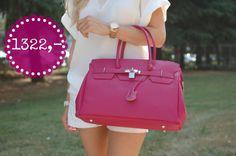 Růžová kožená kabelka vyrobená v Itálii, cena pro Facebook fanoušky jen 1322 Kč Sledujte Facebook Siena Style
