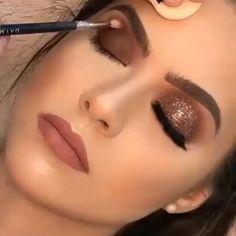 Bridal Eye Makeup, Glam Makeup, Skin Makeup, Makeup Inspo, Eyeshadow Makeup, Makeup Inspiration, Makeup Ideas, Vegas Makeup, Dramatic Wedding Makeup