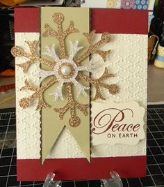 Ruth's Stamping Corner: Sparkling Snowflakes!