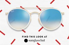 Ray-Ban gets you on all the 'best dressed of the festival' lists with knock out flat lens double bridge shades in stunning white. Who knows, you might even make it backstage wearing these.