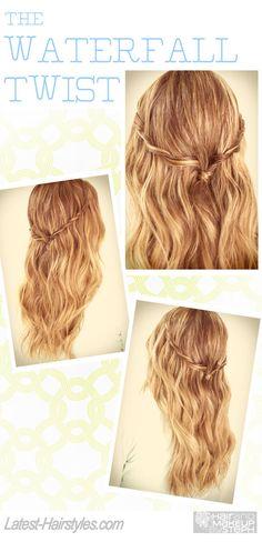 Waterfall Twist Hairstyle