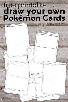 Pokemon Card Template, Diy Pokemon Cards, Party Activities, Activities For Kids, Paper Trail, Lego Lego, Lego Batman, Lego Ninjago, Pokemon Themed Party