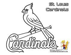 Cardinals Fred Bird Coloring Pages   St. Louis Cardinals Logo ...