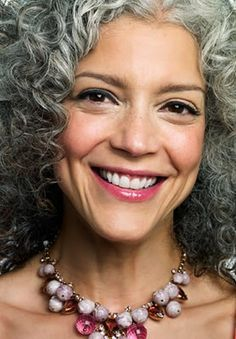 curly gray hair - Google Search