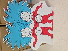 Dr Seuss birthday celebration. Thing 1 and Thing 2 will be making a whole board.
