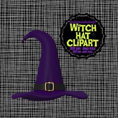 Witch Hat Clipart Halloween clipart 300 dpi by ScubamouseStudiosJr, $2.25