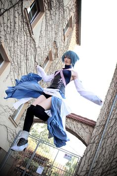 Amazing cosplay of Aqua from Kingdom Hearts: Birth by Sleep.