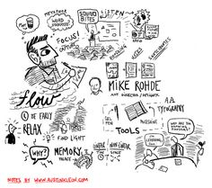 Mike Rohde, Vizthink Visual Note-taking 101 Webinar by Austin Kleon, via Flickr
