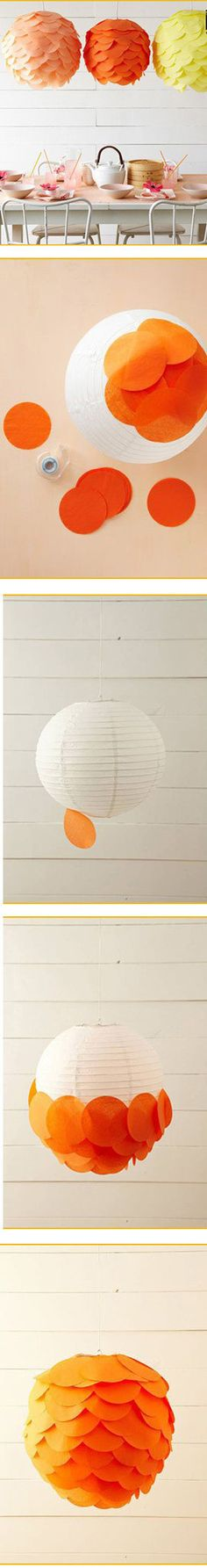 how to make a colorful paper lantern.