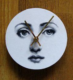 Fornasetti Face. Unique handmade wall clock. | eBay