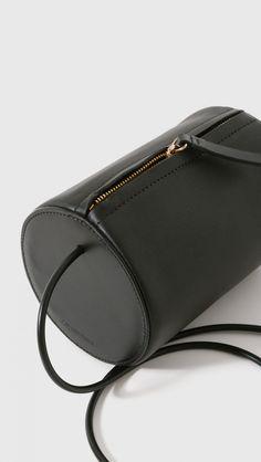 Building Block Cylinder Sling Bag in Black | The Dreslyn