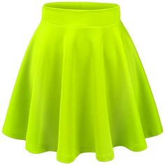 Thanth Womens Versatile Stretchy Pleated Flare Short Skater Skirt ($17) ❤ liked on Polyvore featuring skirts, mini skirts, bottoms, faldas, flared skirt, skater skirt, green skater skirt, short skirts and short mini skirts