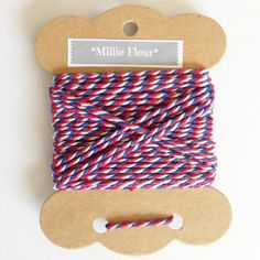 This lovely baker's twine would look great made into a pom pom or tassel ...Red…