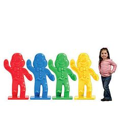 Accent your candy or game night party with Candy Land Gingerbread Piece Standees! These Candy Land Gingerbread Piece Standees look like the gingerbread men from the Candy Land game. Birthday Games, 4th Birthday Parties, 10th Birthday, Birthday Ideas, Candyland Games, Candyland Decor, Giant Sweets, Game Night Parties, Game Party