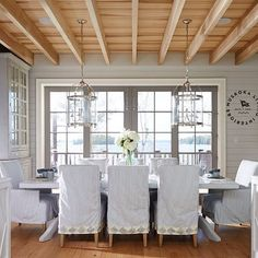 Dining with a view. ⚓️ // via: @muskokalivinginteriors