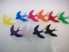Laser Cut Acrylic Swallow Brooches I have a small laser cutter, the brooches have been produced entirely by me, so I can guarantee the quality. Swallow