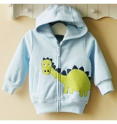 Mom and Bab Hoodie Jacket - Blue Dino - sadinashop.com