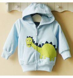 Mom and Bab Hoodie Jacket - Blue Dino - sadinashop.com
