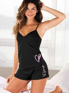 3a8ac3affe Cami  amp  Boyshort Pajama - Victoria s Secret Cute Pjs