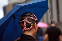 Braids made a frequent appearance at New York Fashion Week (Photo: Craig Arend for The New York Times)