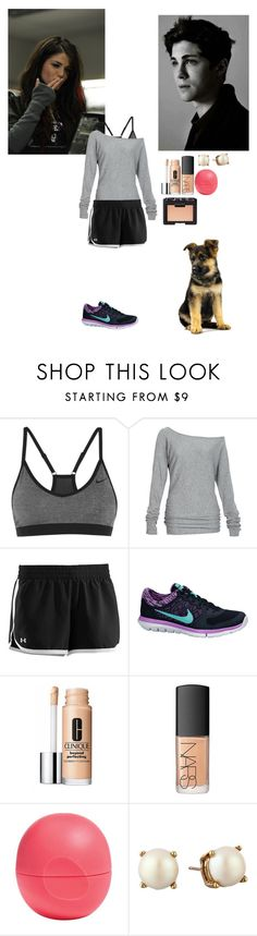 """""""writing"""" by writingismydreams ❤ liked on Polyvore featuring beauty, NIKE, Alloy Apparel, Under Armour, Clinique, NARS Cosmetics, Eos and Kate Spade"""