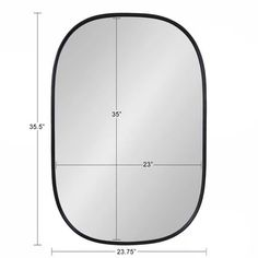 Shop Kate and Laurel Caskill Capsule Framed Oval Wall Mirror - Overstock - 24147612 - 24x36 - Black Stuart Edge, Rounded Rectangle, Ornate Mirror, Beautiful Mirrors, Modern Rustic Interiors, Frames On Wall, Framed Wall, Minimalist Decor, Mid-century Modern